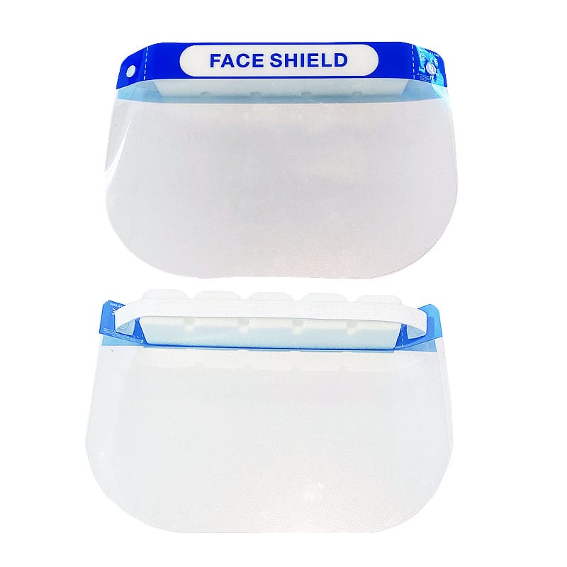 Face shield with foam band on display