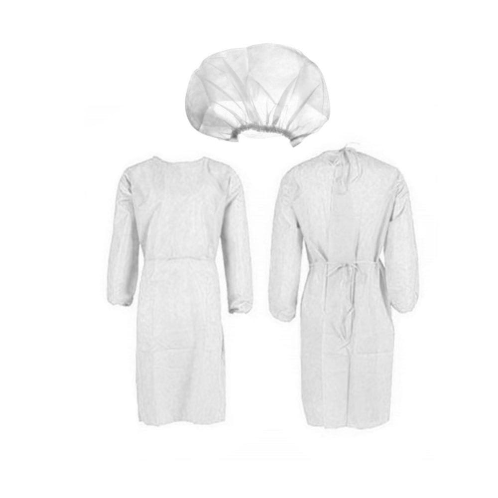 Level 2 gown with cap nonwoven