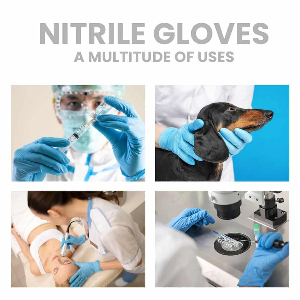 picture of four uses of gloves