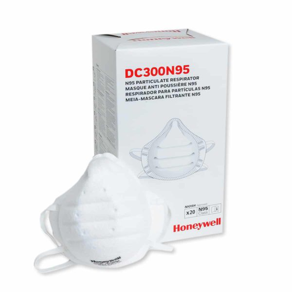 honeywell n95 dc300 box with a mask