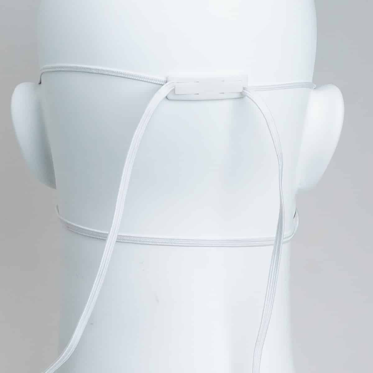 back of an sh3500 n95 mask on mannequin