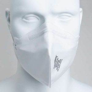 front of an sh3500 n95 mask on mannequin