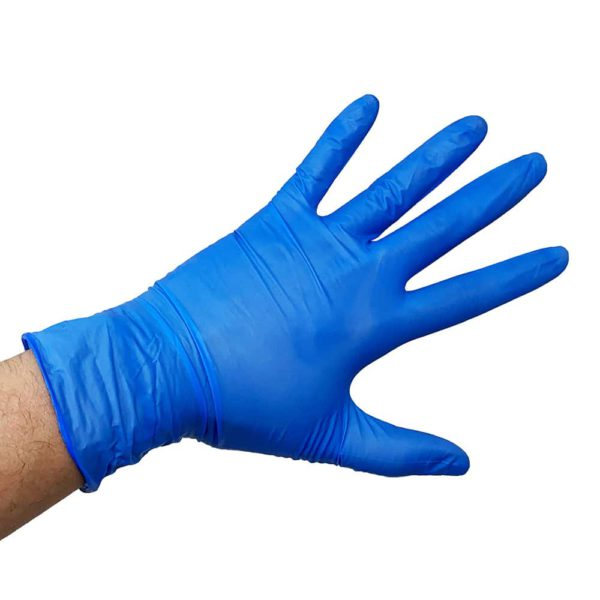 ezcare gloves on a hand