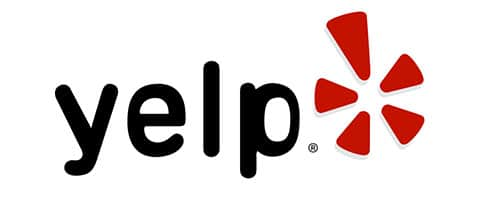 black and red yelp logo
