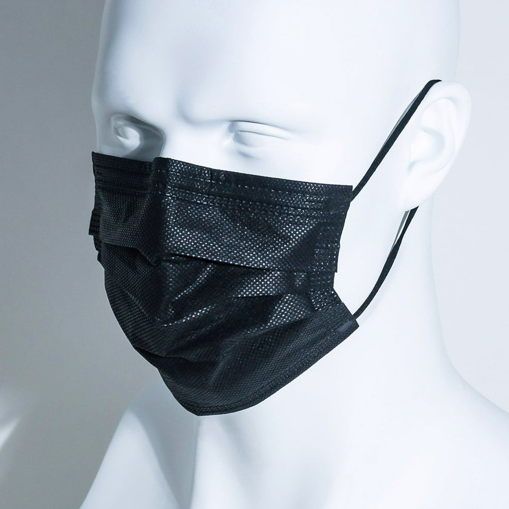 mannequin wearing surgical mask