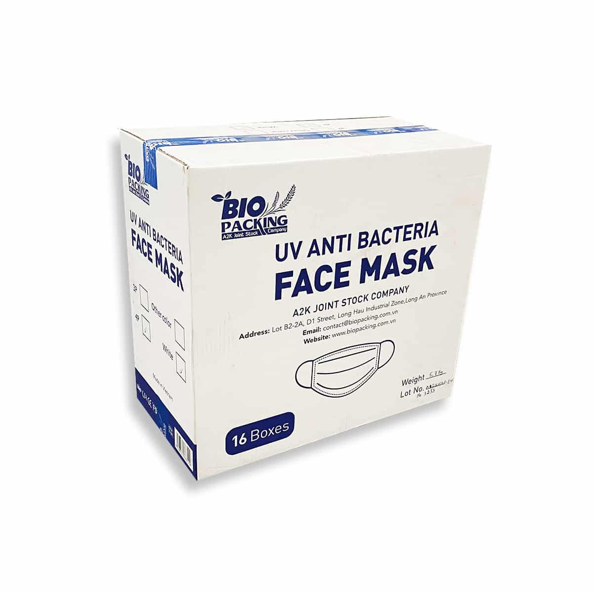 [Mask] Bright White Masks 4-Ply - Individually Wrapped -BioPacking 4
