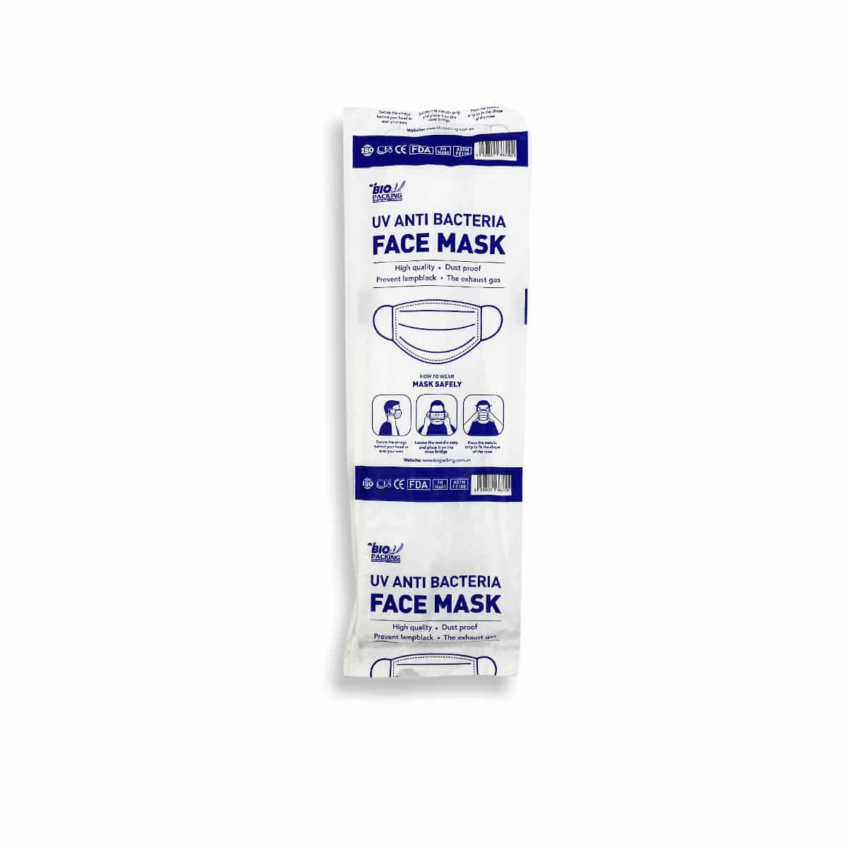 [Mask] Bright White Masks 4-Ply - Individually Wrapped -BioPacking 2